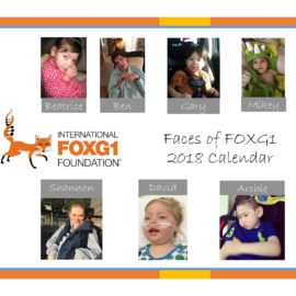 2018 Faces of FOXG1 Calendar